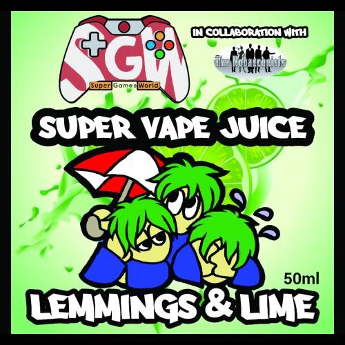 Super-Vape-Juice-Lemmings-Lime, Super-Vape-Juice, Lemmings-Lime